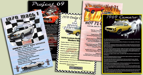 WwwPalmieriConceptscom Choice For Custom Car Display Boards - Car show display signs